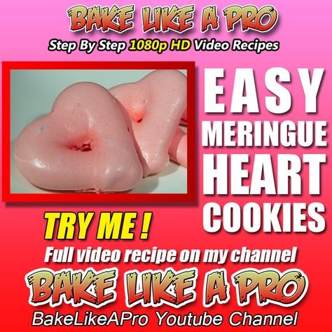 EASY MERINGUE HEART COOKIES RECIPE ►►► CLICK PICTURE for video recipe