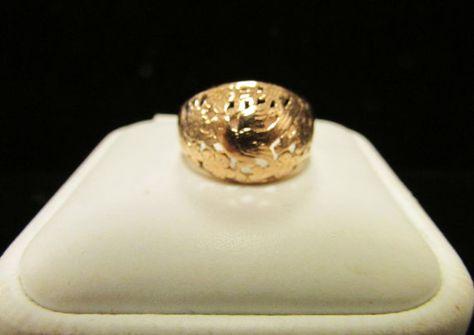 Ming's of Honolulu 14K Gold Classic Domed Bird by Alohamemorabilia,