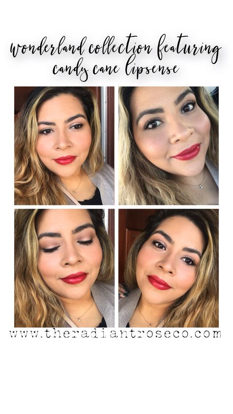 Perfect Holiday lip for your holiday makeup! SHOP NOW: www.theradiantroseco.com #latina #redlips #makeup #holidayfashion #holidaydecor #holidaygifts #makeup #lipsense #momlife