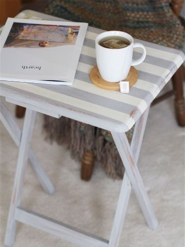 Give your boring TV tray a fun upgrade with this tutorial from @East Coast Creative. #DIY #Crafts