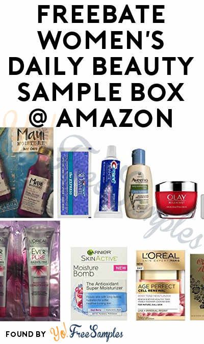 Freebate Women S Daily Beauty Sample Box For Amazon Prime Members Sample Box Beauty Sample Boxes Beauty Samples
