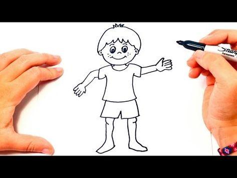Como Dibujar Un Nino Paso A Paso Dibujo Facil De Nino Youtube Como Dibujar Ninos Drawing Lessons Como Dibujar