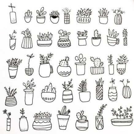 19 Ideas Plants Doodle Cute Plant Doodle Cute Doodles Doodle Coloring