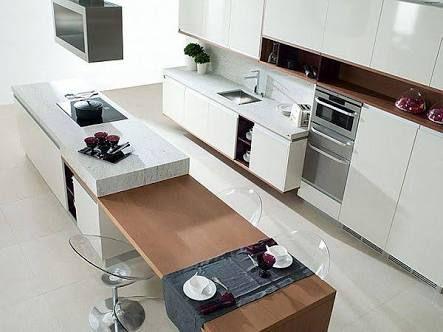 Split Level Kitchen Island Bench Google Search Contemporary Kitchen Modern Kitchen Island Modern Kitchen
