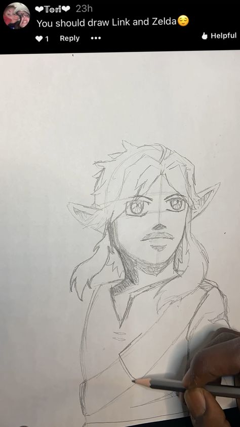 Drawing Link character