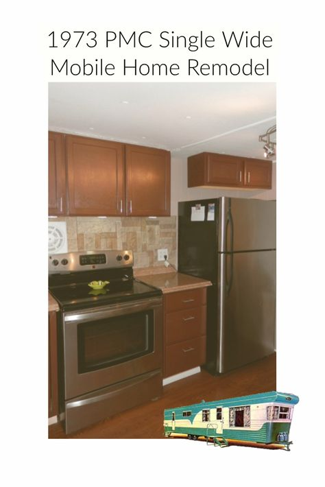 1973 Mobile Home Remodel Done With $2000 Budget   Remodeling mobile homes, Inexpensive kitchen ...