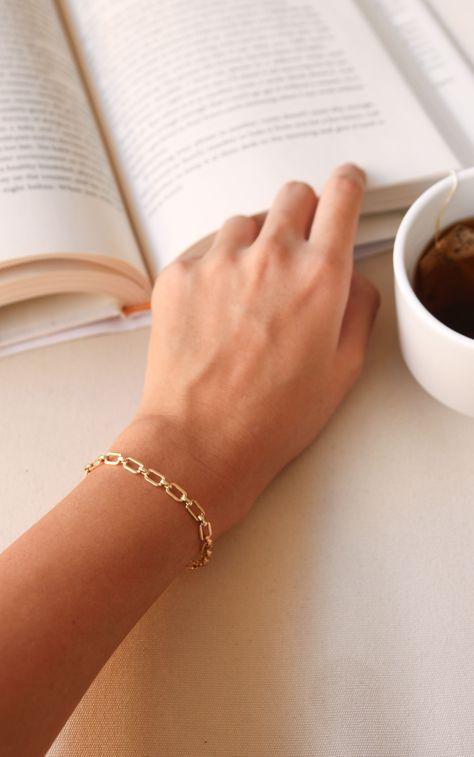 Vintage Link Chain Bracelet | 14k Gold-Filled | Janna Conner - 14k gold-filled