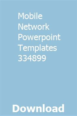 Mobile Network Powerpoint Templates 334899 download full
