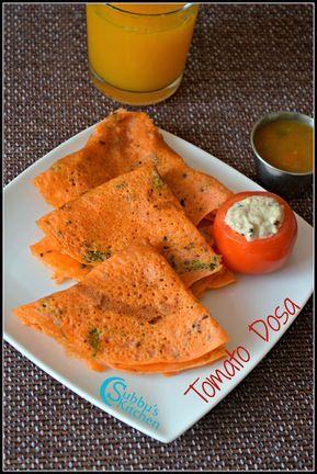 Tomato Dosa Thakkali Dosa Resep