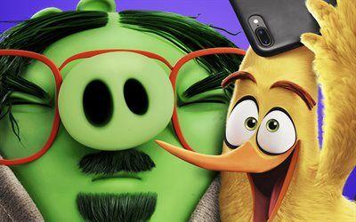 Descargar fondos de pantalla Leonard y Chuck, El Angry Birds la Película 2, 2019 película, 3D-animación, Angry Birds 2, Leonard, Chuck besthqwallpapers.com