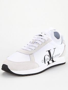 outlet boutique release date hot sale online Jemmy CK Logo - White | Calvin klein, Leather material, Mens trainers