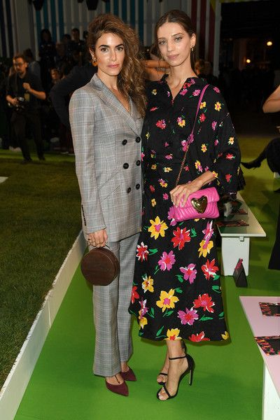 Actresses Nikki Reed and Angela Sarafyan attend the Escada - Front Row during New York Fashion Week.