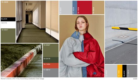 FW trends on Women's denim theme: CODE - color usage.
