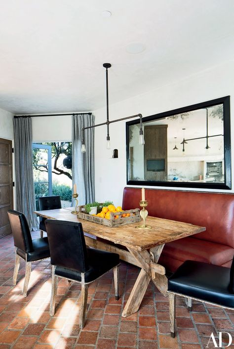 Bullard Designed Chairs In A Moore Giles Leather And Sleek Banquette Create Comfortable Breakfast Nook