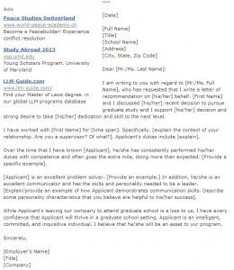 Letter Of Recommendation For Masters Program From Employer from i.pinimg.com