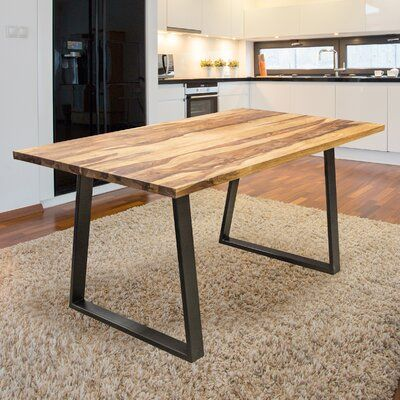 Williston Forge Ogara Solid Wood Dining Table In 2020 Solid Wood