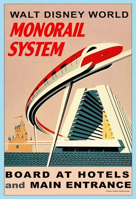 The Walt Disney World Monorail - Vintage Poster