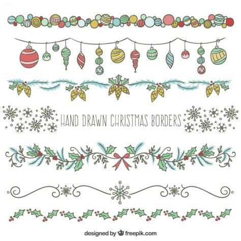 christmas doodles Christmas Vectors, Photos and PSD files Bullet Journal Christmas, December Bullet Journal, Bullet Journal Writing, Bullet Journal Ideas Pages, Bullet Journal Inspiration, Borders Bullet Journal, Christmas Doodles, Diy Christmas Cards, Xmas Cards