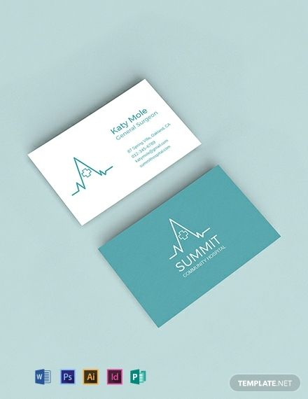 Medical Business Card Template Word Psd Indesign Illustrator Publisher Business Card Template Word Medical Business Card Free Business Card Templates