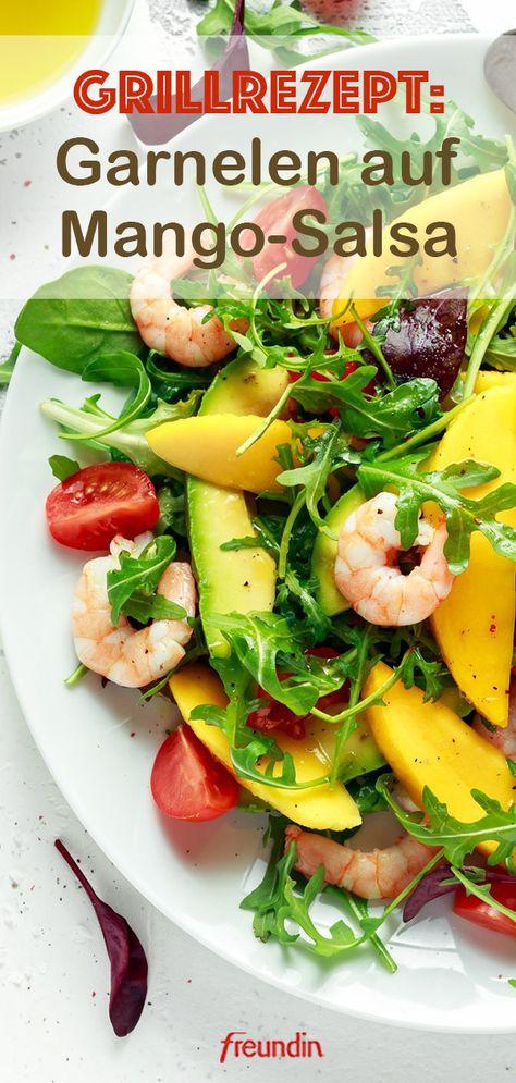 Unsere Garnelen nehmen ein fruchtiges Bad! Süße Mangos, Koriander und geröstete Erdnüsse verleihen dem Gericht eine feine asiatische Note