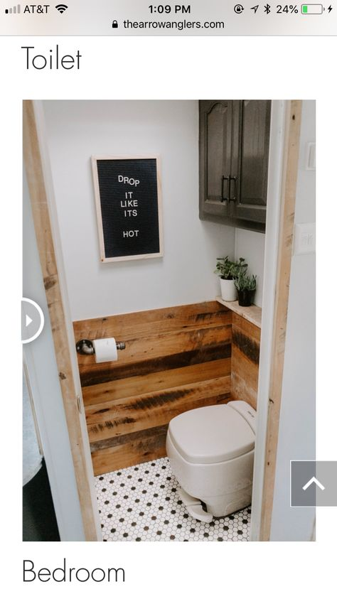 The wood added to the wall and the tiny ledge behind to commode