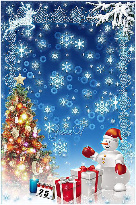 Fondo Blu Di Natale Blu Fiocco Di Neve Regalo Immagine Di Sfondo