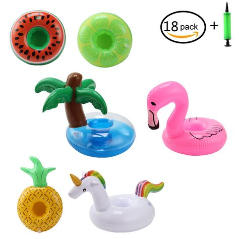 4Pcs Inflatable Coasters Watermelon Float Cup Holder Water Toy for Swimming Pool