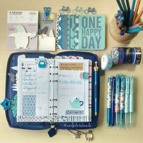 #ShareIG Day 7: Blue - Today in my Cobalt Blue Pennybridge Filofax