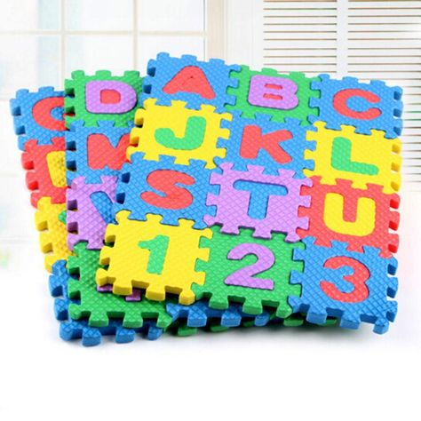 Alphabet /& Numerals Mini Puzzle Baby Kids Play Educational Toy Mats Set