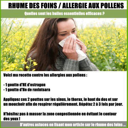Rhume Des Foins Ou Allergie Au Pollen Efficacite Des Huiles