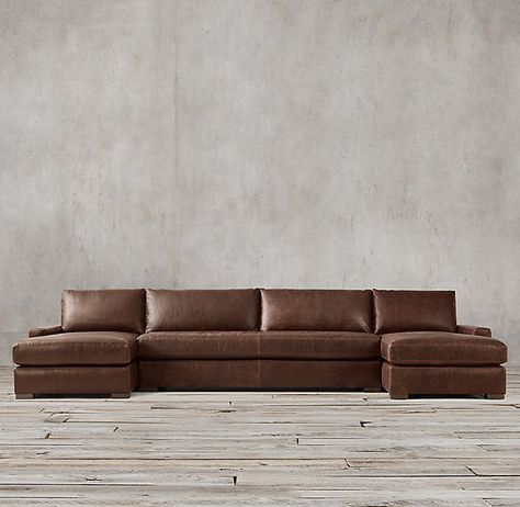 Maxwell Leather Customizable Sectional in 2020 | Leather