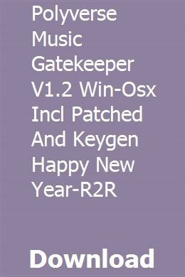 Polyverse Music Gatekeeper V1 2 Win-Osx Incl Patched And