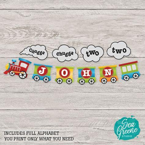 Boy Train 2nd Birthday Chalkboard Instant Download Chugga Chugga Two Two Milestones Board Printable 037 Boy 2nd Birthday Gift