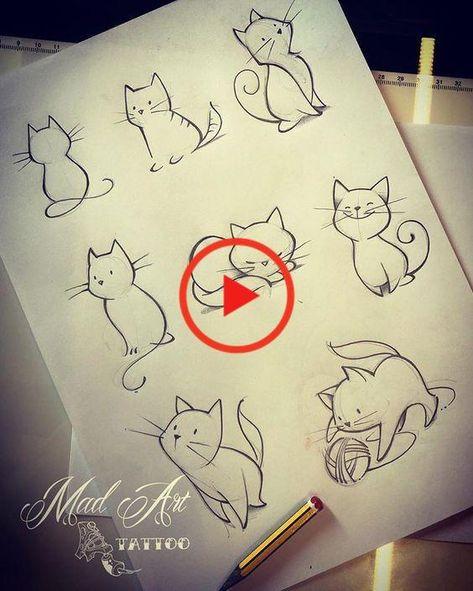 Katzen Cattattoo Catsketch Lovecat Drawing Drawingtattoo