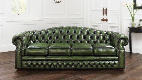 Grun Leder Chesterfield Sofa Sofa Chesterfield Sofa Sofa Und