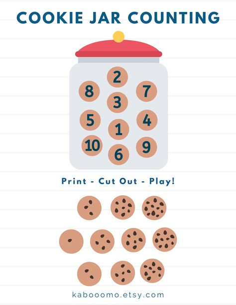 Folder Games For Toddlers, Counting For Toddlers, File Folder Activities, File Folder Games, Preschool Learning Activities, Free Preschool, Preschool Printables, Preschool Worksheets, Preschool Activities