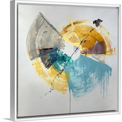 Orren Ellis Spinning Spring Painting On Canvas Spring Painting Canvas Painting Floater Frames