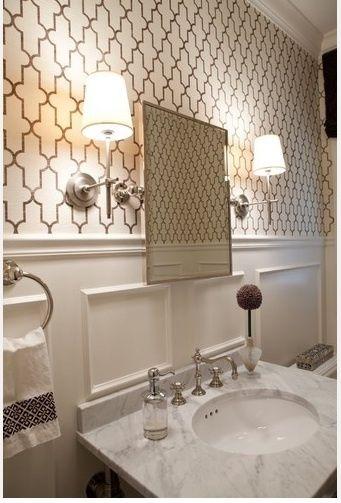 Splendid Sass Bathroom Favorites Powder Room Design White Wainscoting Beautiful Bathrooms