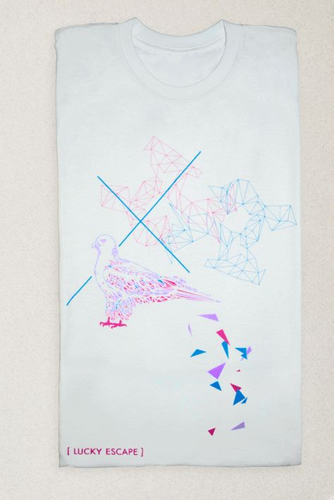 'Festival of Birds' T-shirt, exhibited at London Design Festival, 100% Design at Earls Court and Featured in Gallery Magazine. Full project and video available on our website  http://www.luckyescapestudios.com/