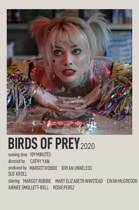 BIRDS OF PREY POLAROID MOVIE POSTER