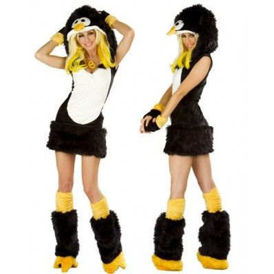 Amour- Deluxe Furry Animal Adult Women Cosplay Halloween Costume (Penguin) | Halloween ideas | Pinterest | Halloween costumes Costumes and Halloween ideas  sc 1 st  Pinterest : penguin halloween costume adults  - Germanpascual.Com