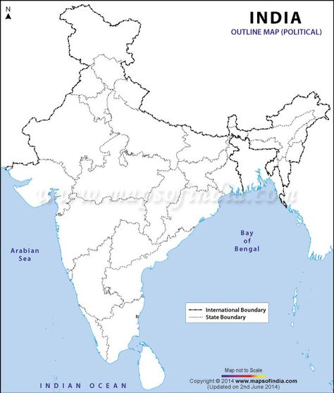 Download Free India Outline Map Political India Map Map