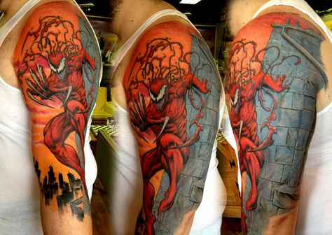 Carnage Tattoo By Tony Siemer Of Totem Gallery In Xenia Ohio