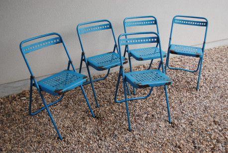 Chaises pliantes Souvignet #chaise #chair #industrial