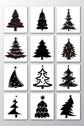 Vector Christmas Tree Silhouette Element Png Images Ai Free Download Pikbest Christmas Tree Silhouette Christmas Vectors Christmas