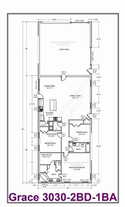 40x40 House Plans Lovely 40x40 Pole Barn House Plans Barn House Plans Barndominium Floor Plans