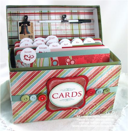greeting card organization box {how-to}
