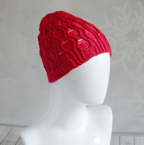 e366b45abf8 Red beanie for women Summer spring knit hat made from yarn blended of  cashmere