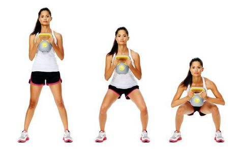 Image result for Kettlebell goblet squats