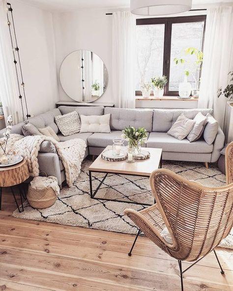Scandinavian ideas; grey living room; cozy living room decors; modern living room. #Scandinavian #livingroom #livingroomdecors